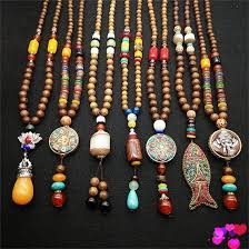 wood beads necklace designs images 80 cm new design nepal wood beads necklaces natural stone pendant jpg