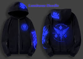 blue skull dancer graphic print luminous hoodie l 23 43 online