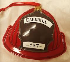 firefighter helmet fireman ornament personalized firefighter