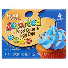 great value assorted food color u0026 egg dye 1 oz walmart com