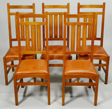 Stickley Dining Room Furniture For Sale by Lot 434 Five 5 Harvey Ellis Stickley Side Chairs Contem