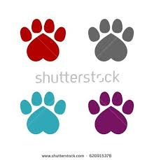 paw print template paw print set logo template stock vector 620915378