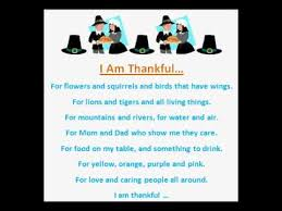 i am thankful thanksgiving poem