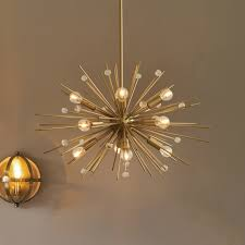 Sputnik Ceiling Light Ashwin Brass Sputnik Pendant Light At Ideas For