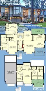 modern mansion floor plans plan 23556jd modern for front sloping lot modern house