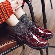 low heel popular cut pu leather boots boots increase wholesale fancy flat lace up leather brogue shoes
