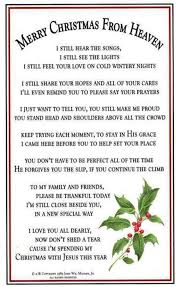 merry heaven ornament and poem home decoration