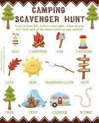 camping scavenger hunt download special offer