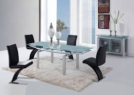 five piece dining room sets global furniture d88 5 piece dining room set in silver black by