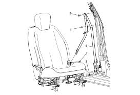 repair instructions driver or passenger seat retractor side belt