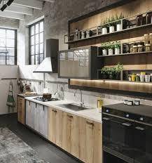 cuisine bois beton cuisine industrielle l élégance brute en 82 photos exceptionnelles
