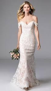 20 flirty cold shoulder wedding dresses happywedd - Cold Shoulder Wedding Dress