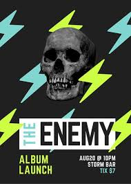 lavish electric store a4 bi fold brochure template skull rock band album launch flyer canhan pohjia pinterest