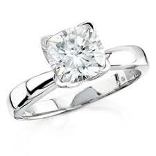 cushion solitaire engagement rings tulip design cushion cut solitaire engagement ring style 1058