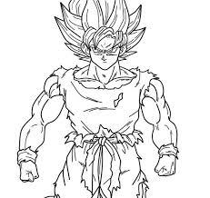 50 super saiyan goku coloring pages images