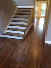 refinished hardwood stairs and floor dustless refinishing of