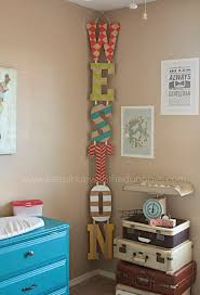 best 25 diy nursery decor ideas on pinterest pom pom diy diy painted name letters hung vertically vs horizontally in the corner why have i never thought of this baby name sign baby name letters