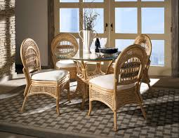 armless rattan dining set