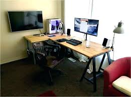 Dual Monitor Computer Desks Desk For Dual Monitors Computer Two Monitor Best Stand Interque Co