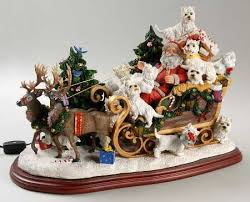 santas best friend westie ornaments the danbury mint