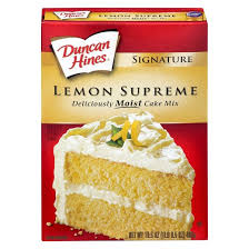 duncan hines moist deluxe lemon supreme premium cake mix 18 25oz