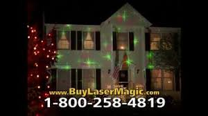 magic laser christmas lights star shower laser magic tv commercial decorate for the holidays