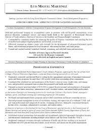 sports resume for college exles resume for sports management degrees sales management lewesmr
