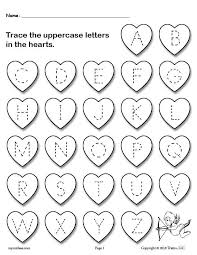 printable letter tracing worksheets free printable valentine s day uppercase and lowercase alphabet