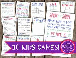 25 kids wedding games ideas kids wedding fun