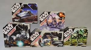 five hasbro star wars 30th anniversary collection vehicles elite