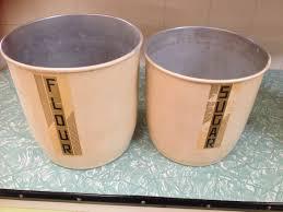 set of 4 vintage retro aluminum kitchen canisters halsey road