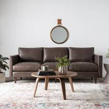 Living Room Brown Leather Sofa Leather Sofas Couches U0026 Loveseats Shop The Best Deals For Dec