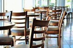 Coffe Shop Chairs Isometric Coffee Shop With Tables Chairs And Palm Trees Stock