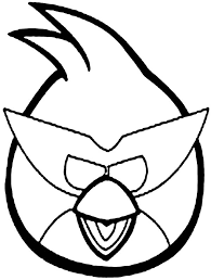 angry bird space blue bird coloring