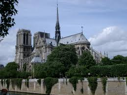 free stock photo of notre dame from the bank of the seine river