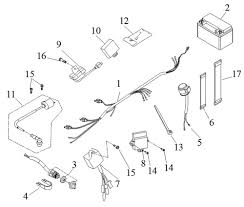drr oem ignition and wire harness mini quad