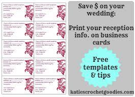 Reception Cards Free Wedding Templates Rsvp U0026 Reception Cards Katie U0027s Crochet