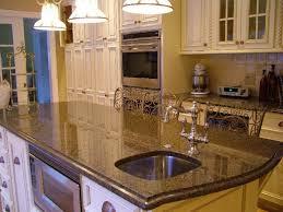wine rack cream color granite countertops wooden kitchen cabinet