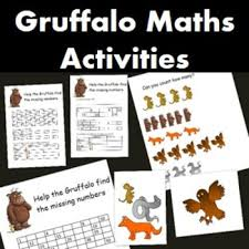 here i have a gruffalo maths activity with 3 different sheets