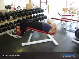 Sit Up Bench Benefits - decline sit up video exercise guide u0026 tips
