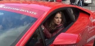 lamborghini limo inside model xenia tchoumitcheva seen driving lamborghini huracan at