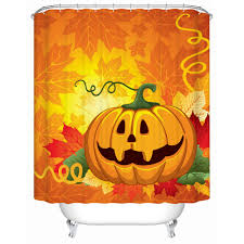 online get cheap pumpkin shower curtain aliexpress com alibaba