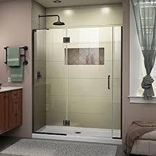 Shower Door Vigo Elan 52 To 56 In Frameless Sliding Shower Door With 375 In