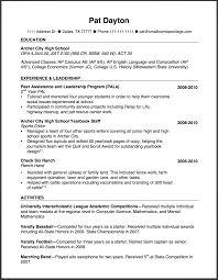 Resume Other Activities How To Write A High Resume The Small Town Top College Blog