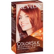 hair color for 45 6 pack revlon colorsilk hair color 45 bright auburn 1 each