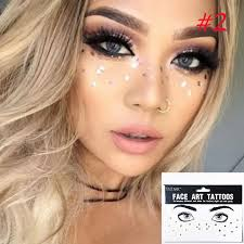 tattoo makeup freckles 1pcs fashion new arrival disposable gold face tattoo stickers