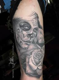 sugar skull tattoos by robert witczuk black n grey sometimes