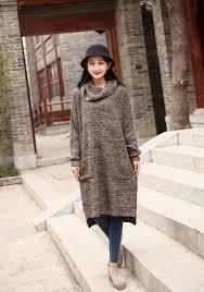 cotton sweater winter turtleneck sweater dresses casual loose