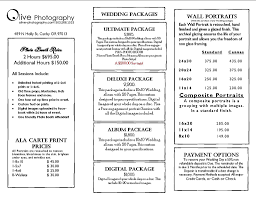 photographer prices prices olive photography