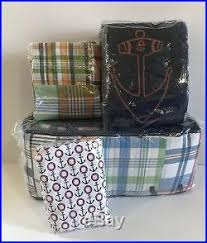 Pottery Barn Madras Curtains Pottery Barn Anchors Away Quilt Fitted Sheet Madras Crib